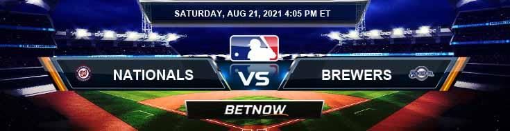 Washington Nationals vs Milwaukee Brewers 08-21-2021 Predictions MLB Picks and Preview