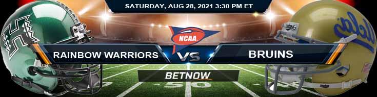 Week 1 NCAAF Game Predictions Between Rainbow Warriors and Bruins 08-28-2021 at Rose Bowl