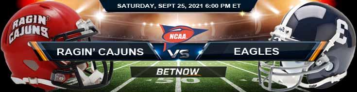 2021 Best Betting Odds for Louisiana Ragin' Cajuns vs Georgia Southern Eagles 09-25-2021