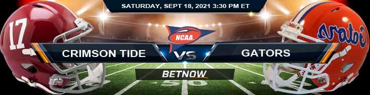 Alabama Crimson Tide vs Florida Gators 09-18-2021 Game Analysis NCAAF Tips and Forecast