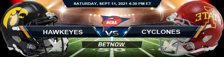 Analysis Between Iowa Hawkeyes vs Iowa State Cyclones 09-11-2021 at Jack Trice Stadium