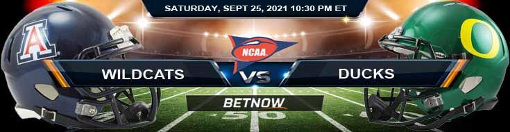 Arizona Wildcats vs Oregon Ducks 09-25-2021 College Football 2021 Best Preview