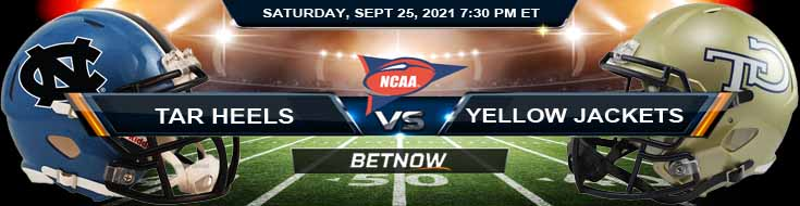 Best Football Prediction Between North Carolina and Georgia Tech 09-25-2021 at Bryant-Denny Stadium