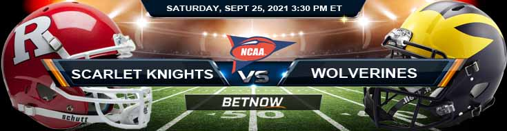 BetNow's Best Betting Tips for the Rutgers vs Michigan 09-25-2021 Game