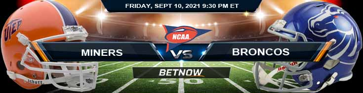 BetNow's Favorite Pick for the UTEP vs Boise State 09-10-2021 Game at Albertsons Stadium