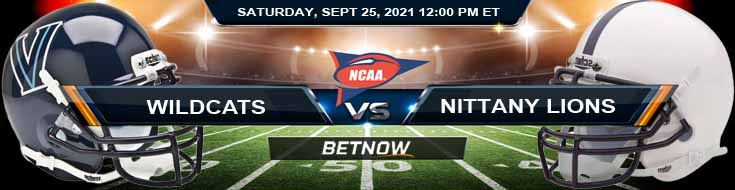 BetNow's Top Betting Analysis for the Villanova and Penn State 09-25-2021 Game