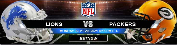 Betting Odds for Week 2's Last Game Between Lions and Packers 09-20-2021 at Lambeau Field