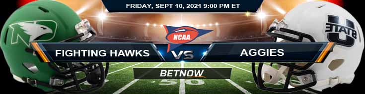 Betting Odds for the North Dakota Fighting Hawks vs Utah State Aggies 09-10-2021 NCAAF Match