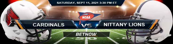 Betting Picks Game Between Ball State Cardinals vs Penn State Nittany Lions 09-11-2021 in Beaver Stadium