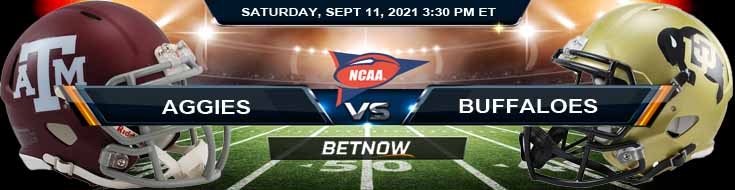 Betting Predictions Between Texas A&M Aggies vs Colorado Buffaloes 09-11-2021 in Empower Field at Mile High