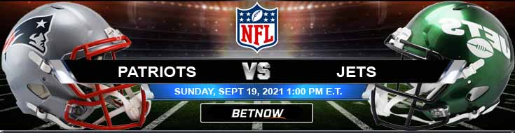 Betting Spread for the Patriots vs Jets 09-19-2021 NFL Game at MetLife Stadium
