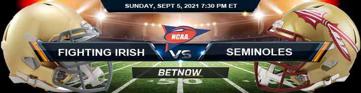 College Football Week 1 Notre Dame Fighting Irish vs Florida State Seminoles 09-05-2021 Predictions Odds and Betting Tips