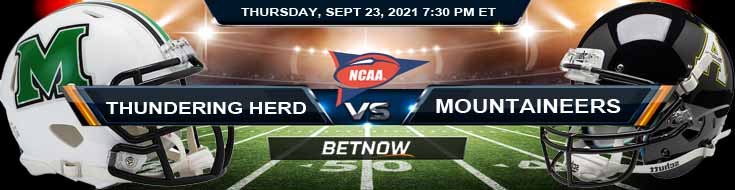 First Match of Week 4 NCAAF 2021's Betting Tips Marshall Thundering Herd vs Appalachian State Mountaineers 09-23-2021