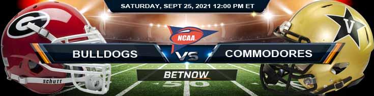 Georgia Bulldogs vs Vanderbilt Commodores 09-25-2021 Top Betting Forecast for Week 4
