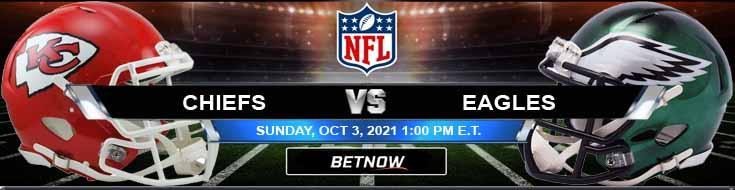 Kansas City Chiefs vs Philadelphia Eagles 10-03-2021 Football Betting Previews and Predictions