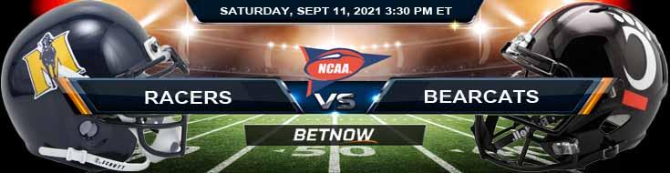 Murray State Racers vs Cincinnati Bearcats 09-11-2021 Game Odds for NCAAF 2021