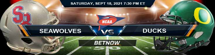 NCAA Football 2021 Betting Forecast on the Stony Brook and Oregon 09-18-2021 Game