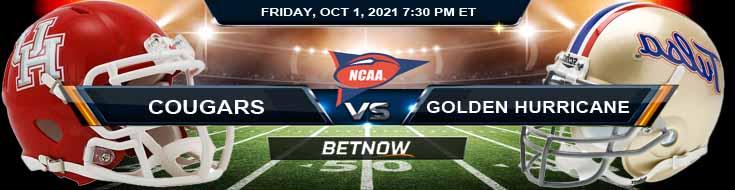 NCAA Football Game Analysis for Houston Cougars vs Tulsa Golden Hurricane 10-01-2021 at Chapman Stadium