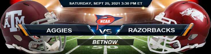 Preview for Week 4 Texas A&M Aggies vs Arkansas Razorbacks 09-25-2021
