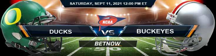 NCAAF 2021 Betting Odds Week 2's Game Between Oregon Ducks vs Ohio State Buckeyes 09-11-2021