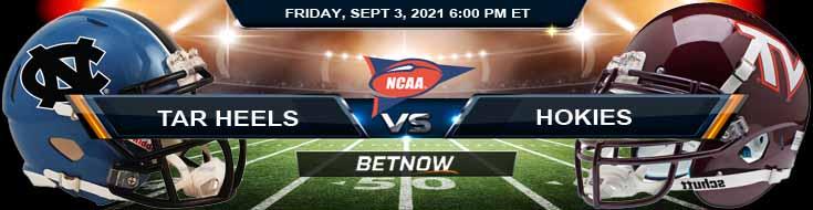 NCAAF 2021 Betting Picks: Week 1's Game Between North Carolina Tar Heels vs Virginia Tech Hokies 09/03/2021