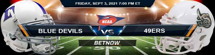 NCAAF 2021 Game Analysis Week 1's Game Between Duke Blue Devils vs Charlotte 49ers 09-03-2021
