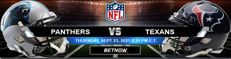 NFL 2021's Best Betting Picks Between Carolina Panthers and Houston Texans 09-23-2021