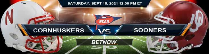 Nebraska Cornhuskers vs Oklahoma Sooners 09-18-2021 Odds Predictions and Tips