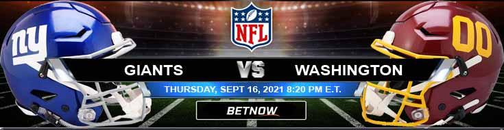 New York Giants vs Washington Football Team 09-16-2021 Picks Predictions and Tips