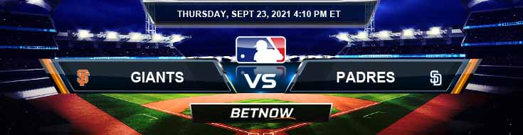 San Francisco Giants vs San Diego Padres 09-23-2021 Betting Predictions Spread and Forecast
