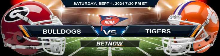 Saturday's Betting Picks for the Georgia Bulldogs vs Clemson Tigers 09-04-2021 Game