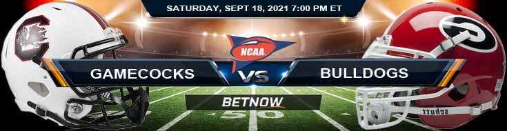 South Carolina Gamecocks vs Georgia Bulldogs 09-18-2021 Odds Forecast and Picks