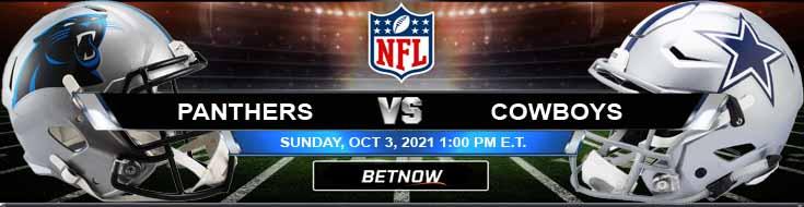 Sunday's Top Bets for Carolina Panthers vs Dallas Cowboys 10-03-2021