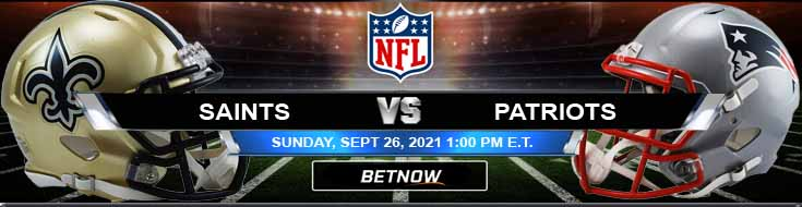 Sunday's Top Forecast for New Orleans Saints vs New England Patriots 09-26-2021 at Gillette Stadium