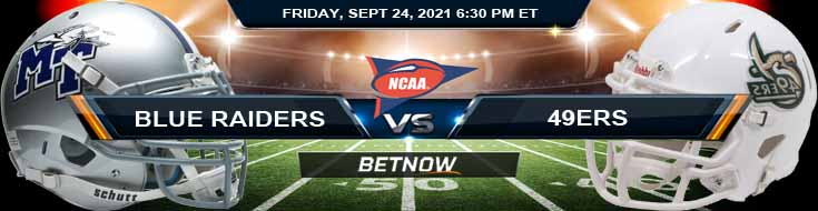Top Predictions for Friday Night's Middle Tennessee Blue Raiders vs Charlotte 49ers 09-24-2021 Game