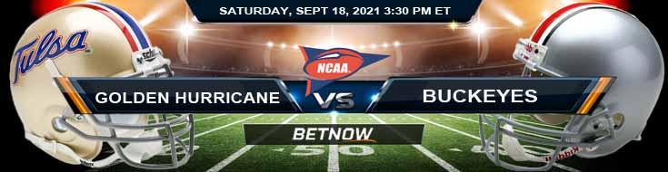 Tulsa Golden Hurricane vs Ohio State Buckeyes 09-18-2021 Picks Predictions and Game Analysis