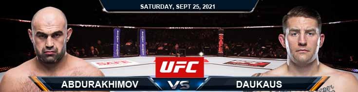 UFC 266 Abdurakhimov vs Daukaus 09-25-2021 Previews Predictions and Picks
