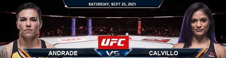UFC 266 Andrade vs Calvillo 09-25-2021 Tips Forecast and Analysis