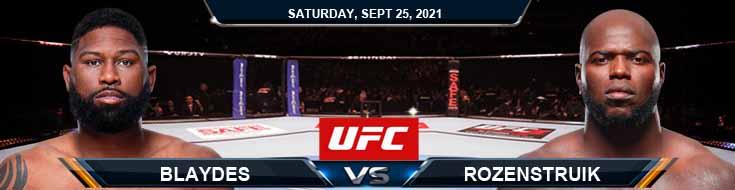 UFC 266 Blaydes vs Rozenstruik 09-25-2021 Previews Fight Spread and Analysis