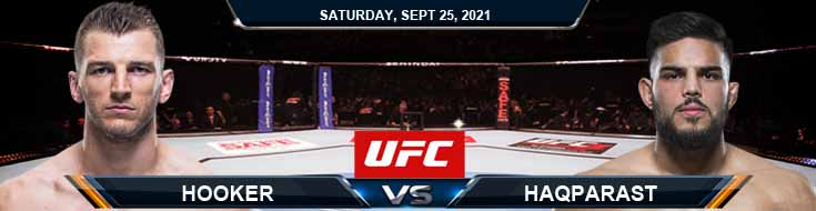 UFC 266 Hooker vs Haqparast 09-25-2021 Odds Analysis and Predictions1