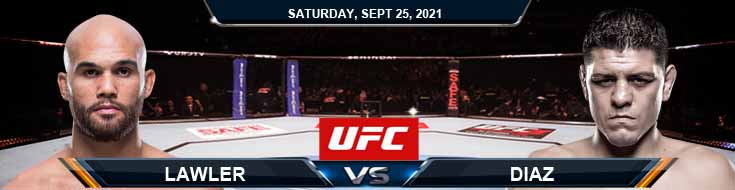 UFC 266 Lawler vs Diaz 09-25-2021 Previews Spread and Fight Analysis