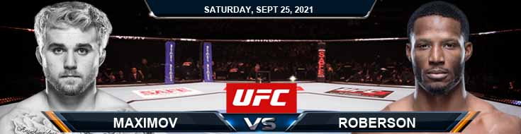 UFC 266 Maximov vs Roberson 09-25-2021 Previews Spread and Fight Analysis