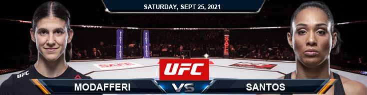 UFC 266 Modafferi vs Santos 09-25-2021 Odds Fight Analysis and Picks