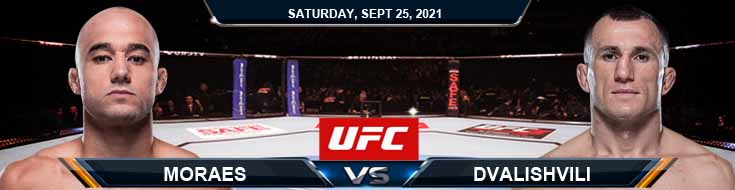 UFC 266 Moraes vs Dvalishvili 09-25-2021 Odds Picks and Previews