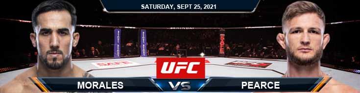 UFC 266 Morales vs Pearce 09-25-2021 Odds Picks and Previews
