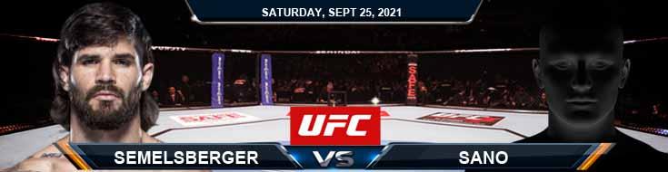 UFC 266 Semelsberger vs Sano 09-25-2021 Spread Forecast and Picks