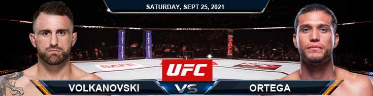 UFC 266 Volkanovski vs Ortega 09-25-2021 Fight Analysis Predictions and Tips