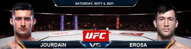 UFC Fight Night 191 Jourdain vs Erosa 09-04-2021 Predictions Previews and Spread
