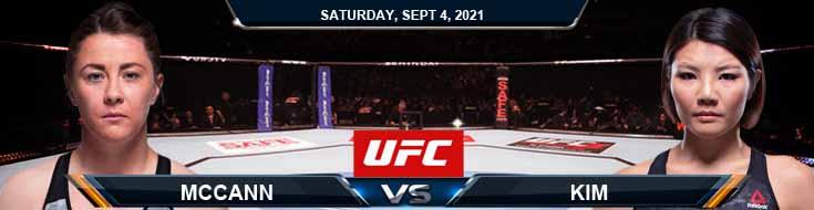 UFC Fight Night 191 McCann vs Kim 09-04-2021 Odds Picks and Predictions