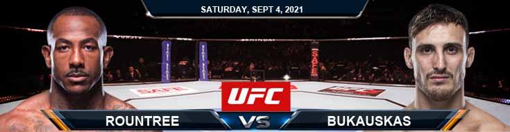 UFC Fight Night 191 Rountree vs Bukauskas 09-04-2021 Tips Analysis and Odds